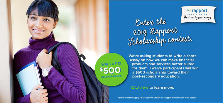 Enter the 2019 Rapport Scholarship Contest